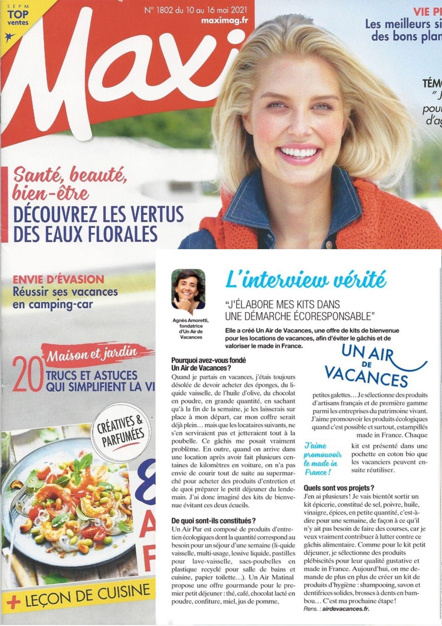 Interview Agnès Amoretti dans Maxi